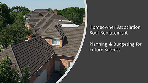Homeowner Association Roof Replacement Planning Course